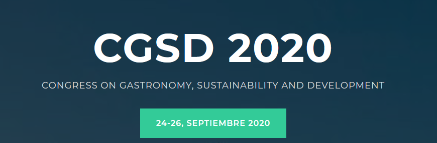 Congress on Gastronomy, Sustainability and Development  –  CGSD 2020