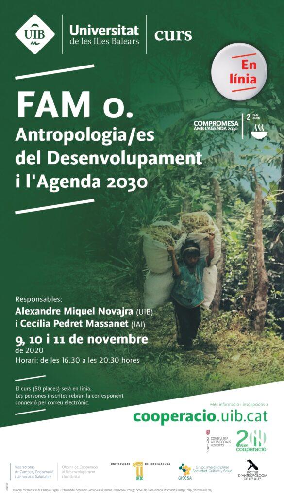 Curs. «Fam 0. Antropologia(es) de desenvolupament i l'Agenda 2030»