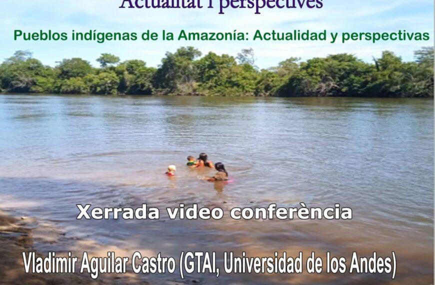 "VIDEOCONFERÈNCIA ""POBLES INDÍGENES DE L'AMAZONIA: ACTUALITAT I PERSPECTIVES"", Vladimir Aguilar Castro (GTAI) i Julián López García (UNED)"